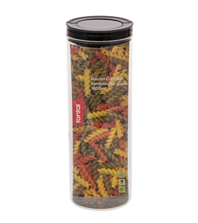 Round Canister Borosilicate Glass 1800ml